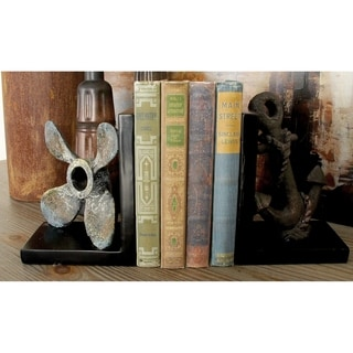 Grey/Brown Polystone 7-inch Bookends (Set of 2)