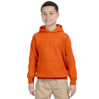Boys' Heavy Blend Orange Hooded Sweatshirt