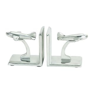 Aluminum 5-inch x 5-inch Bookends (Set of 2)