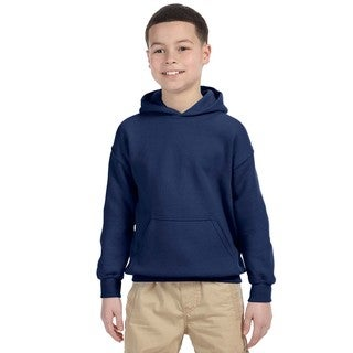Gildan Boys' Navy Heavy Blend Hooded Sweatshirt