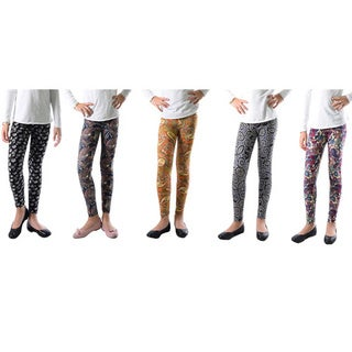 Pack of 5: Trendy Paisley-printed Legging