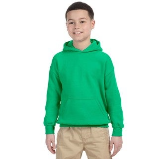 Boy's Irish Green Heavy-blend Hooded Sweatshirt