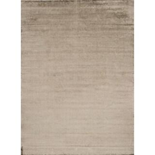 Hand-woven Grandeur Moss Viscose Rug (5'6 x 8'6)