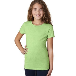 Next Level Girls' The Princess Apple Green Cotton/Polyester T-Shirt