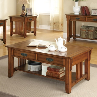 Traditional Brown Coffee Table