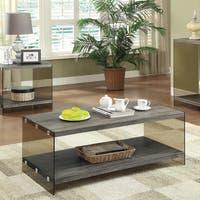 Coaster Company Weathered Grey Glass Coffee Table