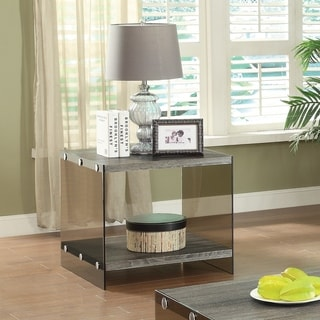 End Table with Glass Sides
