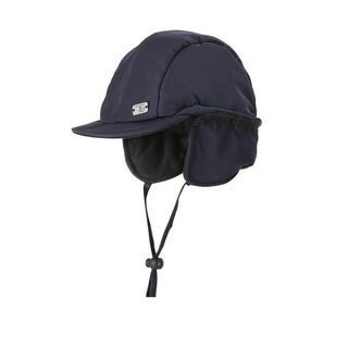 Kid Baby Girl/Boy Winter Warm Navy Earflap Hat with Stretchable Straps