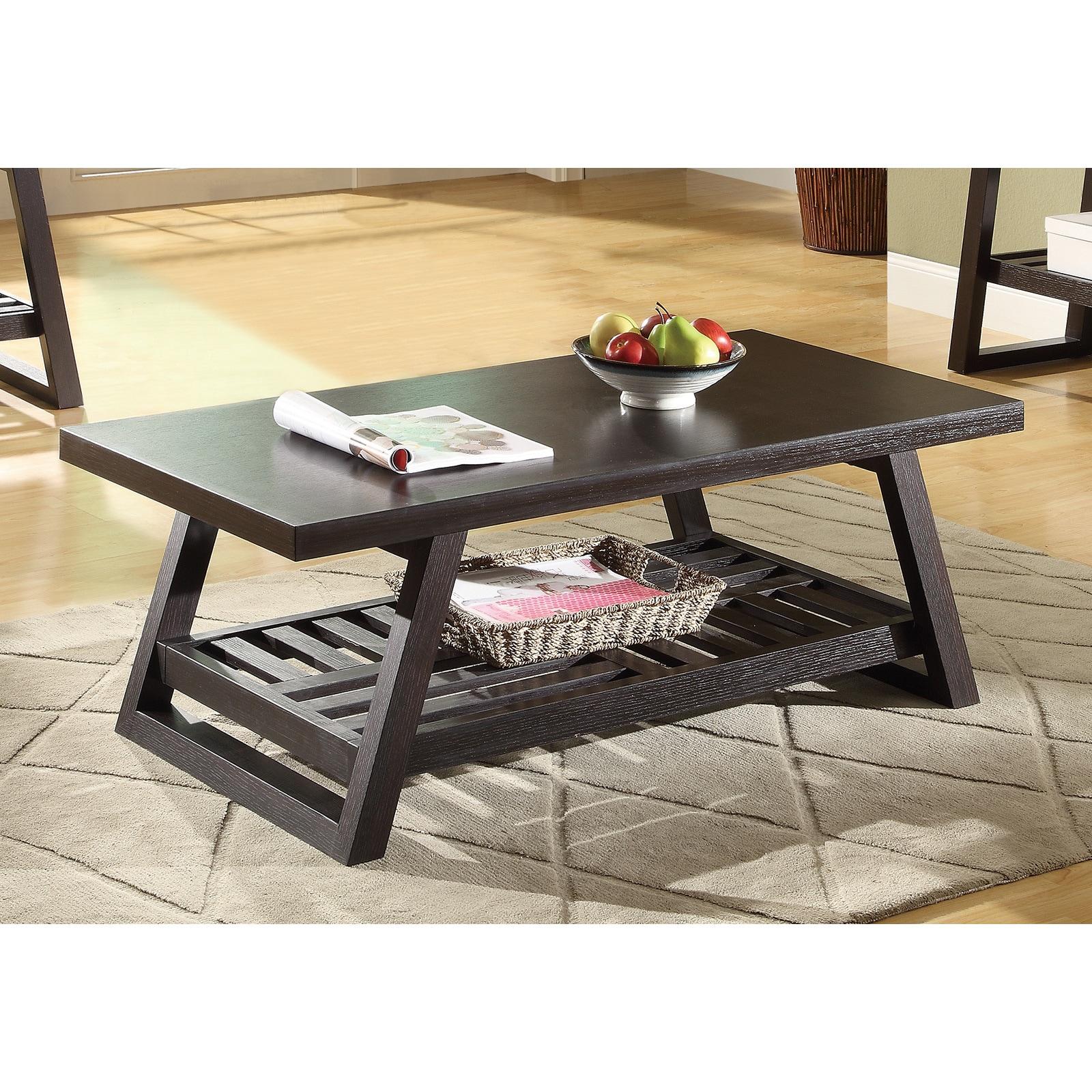 Coaster Furniture Contemporary Cappuccino Rectangle Coffe...