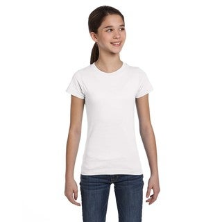 Fine Girl's White Jersey T-Shirt