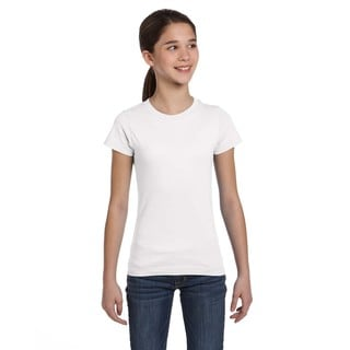 Fine Girl's White Jersey T-Shirt