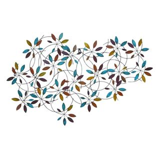 Metal 28-inch High x 44-inch Wide Leaf Wall Decor