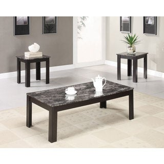 3-Piece Faux Marble Occasional Table Set