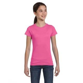 Fine Girl's Raspberry Jersey T-shirt