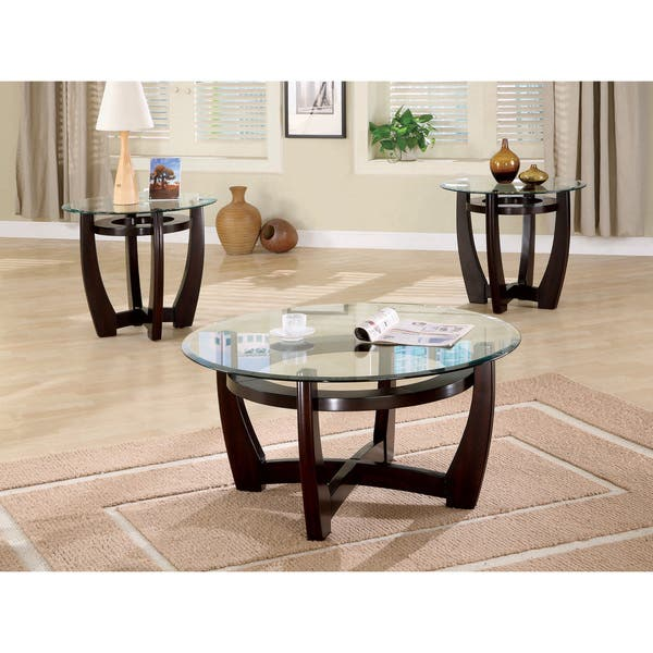 Stupendous Shop Coaster Company Cappuccino 3 Piece Table Set On Sale Alphanode Cool Chair Designs And Ideas Alphanodeonline