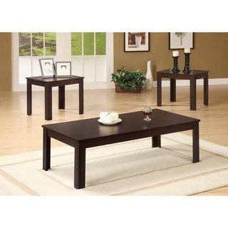 Shop Denja 3 Piece Dark Brown Occasional Table Set