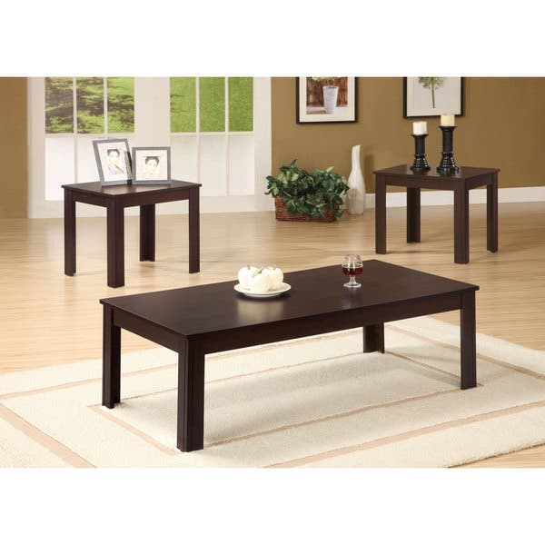 Coaster Company Contemporary End Tables And Coffee Table Set