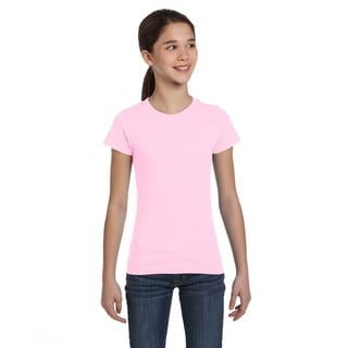 Girls' Pink Cotton Jersey T-shirt