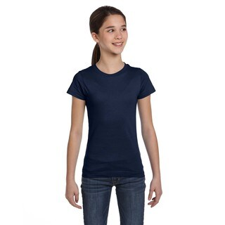 Fine Girl's Navy Jersey T-shirt
