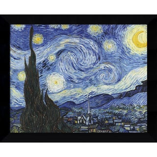Framed Art Print 'Starry Night' by Vincent van Gogh 11 x 9-inch