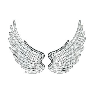 Jeweled Wings Metal/Acrylic Wall Decor (Set of 2)