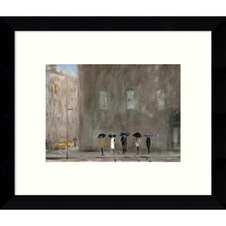 Framed Art Print 'Waiting for a Cab - Park Avenue' by Max Moran 11 x 9-inch
