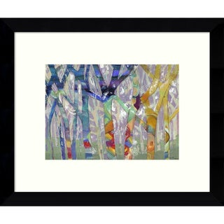 Framed Art Print 'Tree Party I' by M.J. Beswick 11 x 9-inch