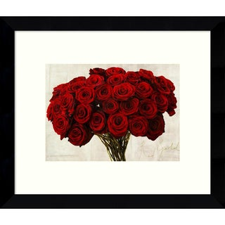 Framed Art Print 'Red Gold (Roses)' by Teo Rizzardi 11 x 9-inch