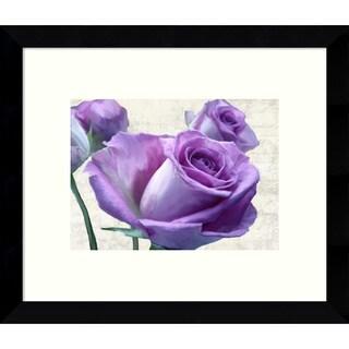 Framed Art Print 'Porcelain Rose' by Jenny Thomlinson 11 x 9-inch