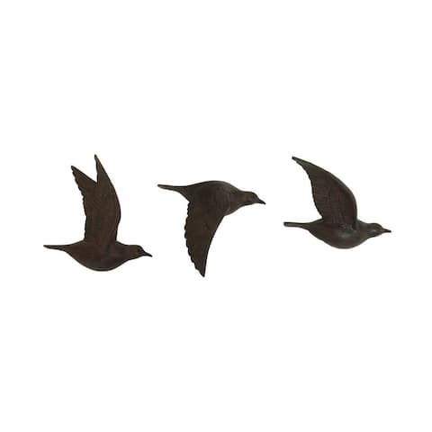 Copper Grove Sharbot 3-piece Brown Polystone Bird Wall Decor Set