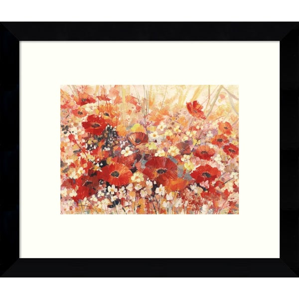 Framed Art Print 'Campo di Fiori Garden' by Luigi Florio 11 x 9-inch