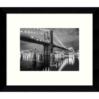 Framed Art Print 'Brooklyn Bridge (New York)' 11 x 9-inch