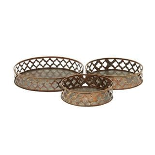 Aluminum Serving Tray (Set of 3)