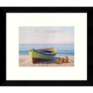 Framed Art Print 'Al mattino boat' by Adriano Galasso 11 x 9-inch