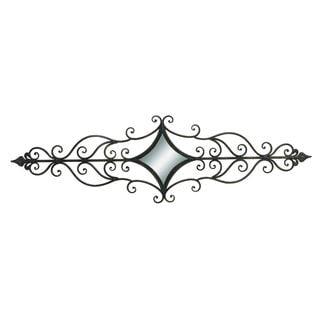 Wrought Iron Metal 15-inch x 56-inch Mirror Wall Scroll