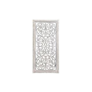 Off-White Wood 51-inch x 24-inch Decorative Wall Panel