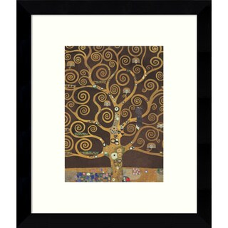 Framed Art Print 'Tree of Life (Brown Variation) V' by Gustav Klimt 9 x 11-inch