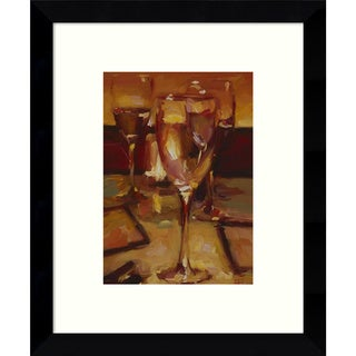 Framed Art Print 'Wine Glasses, Paris' by Pam Ingalls 9 x 11-inch