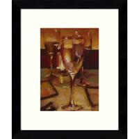 Framed Art Print 'Wine Glasses, Paris' by Pam Ingalls 9 x 11-inch