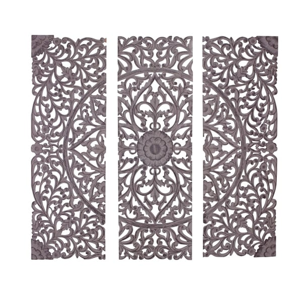 Set of 3 Traditional 72 Triptych Wooden Wall Panel by Studio 350