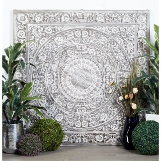 Wood Carved 60-inch x 60-inch Wall Panel