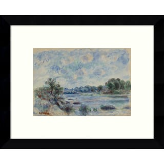 Framed Art Print 'Landscape at Pont-Aven' by Pierre-Auguste Renoir 11 x 9-inch