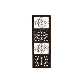 Four Opening Wall Panel with Alternating Metal Hanging Bell Montages