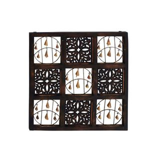 Wood and Metal 36-inch Decorative Wall Panel