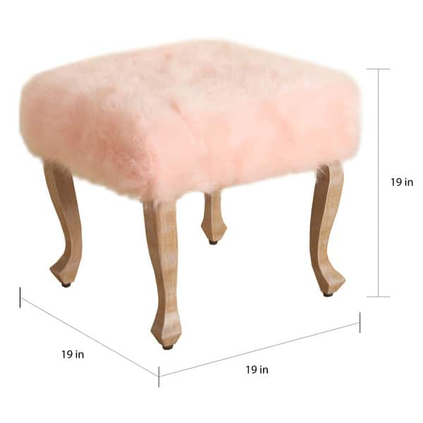 Marvelous Shop The Curated Nomad Yorba Faux Fur Blush Square Stool Cjindustries Chair Design For Home Cjindustriesco