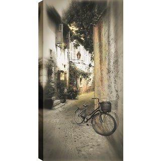 Hobbitholeco P.T. Turk 'Parked Against The Wall' 18-inch x 24-inch Gallery-wrapped Ready to Hang Landscape Photography Wall Art
