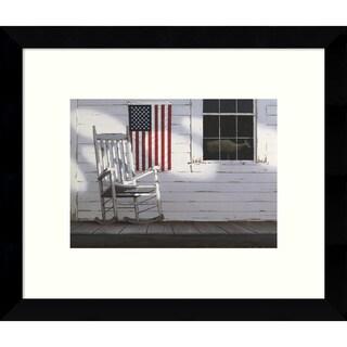 Framed Art Print 'Dawn (Porch)' by Zhen-Huan Lu 11 x 9-inch