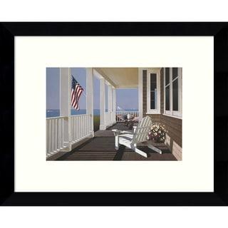 Framed Art Print 'Sunrise (Porch)' by Zhen-Huan Lu 11 x 9-inch