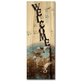 WGI Gallery Greenhead Haven Indoor/Outdoor Wood-printed Welcome Plaque