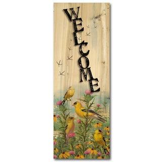 WGI Gallery Golden Glories Indoor/Outdoor Welcome Plaque/Sign Printed on Wood